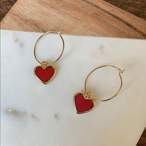 BOGO! Simple Sweet Red Heart Earrings